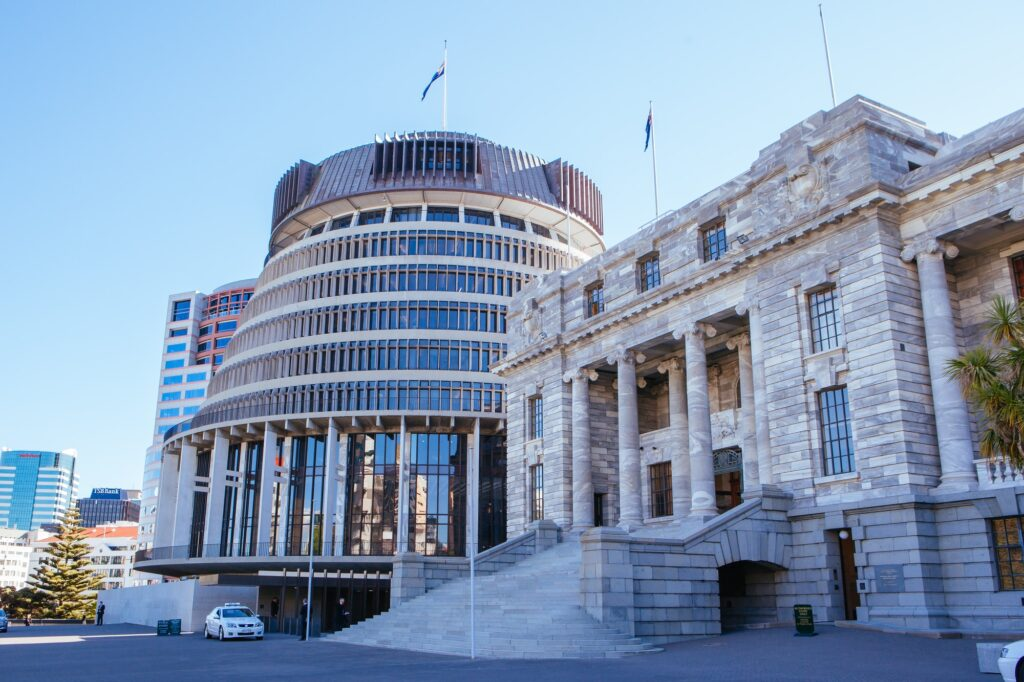 Wellington Parliament in New Zealand