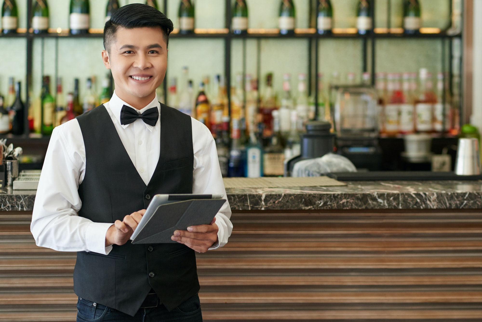 Cheerful waiter
