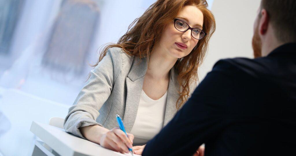 Job application interview in a modern office