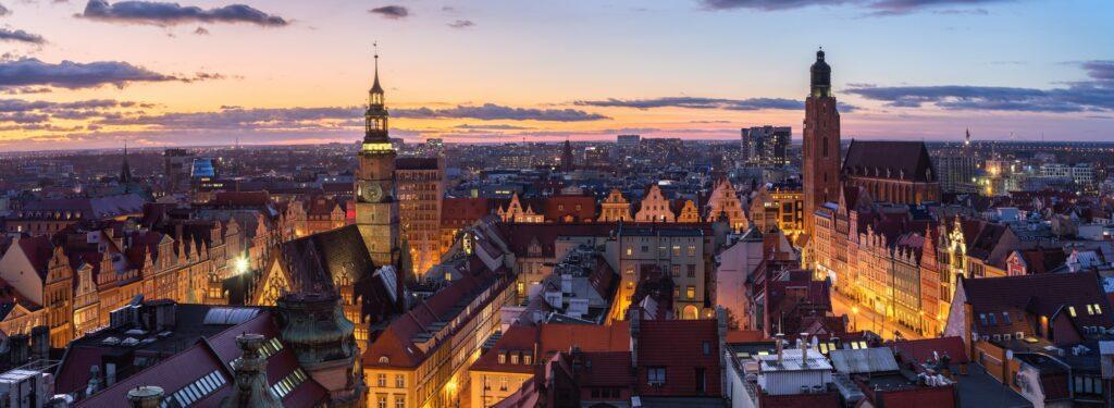 Wroclaw, Poland. Aerial cityscape